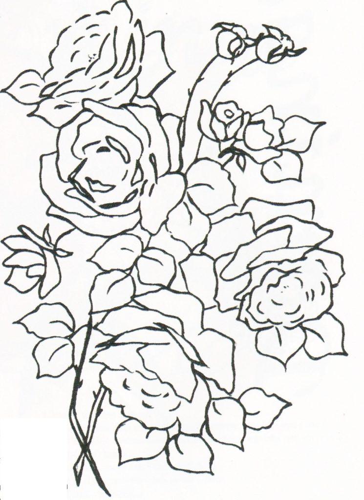 desenho risco rosa para pintura em tecido
