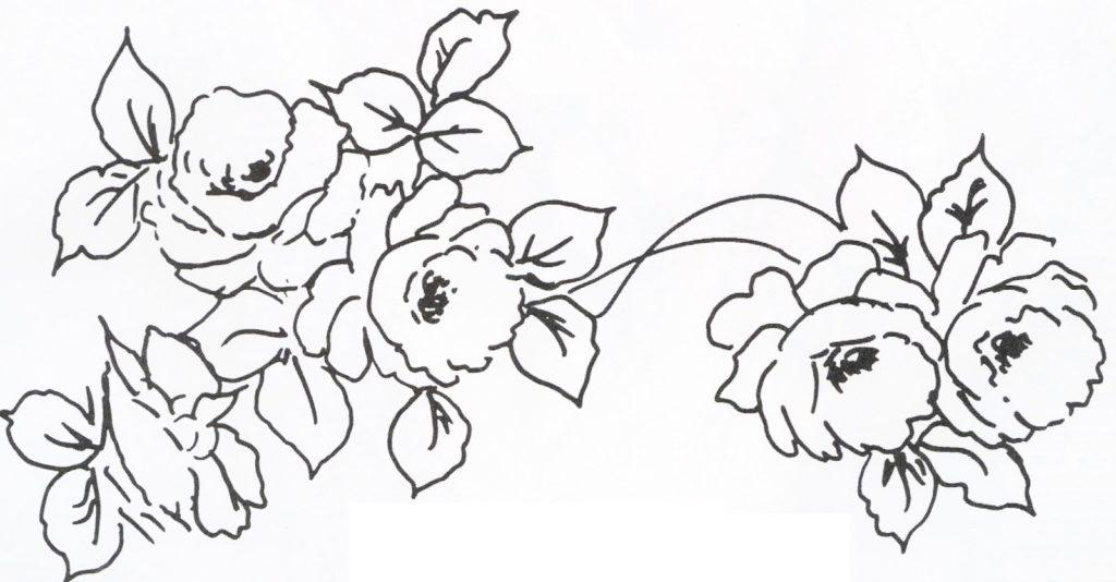 desenho risco rosa pintura em tecido