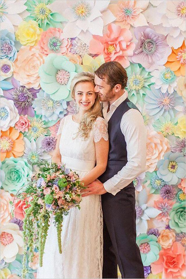 flor de papel casamento
