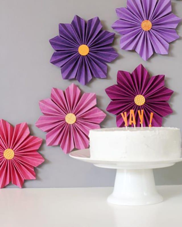 flor de papel decoracao aniversario