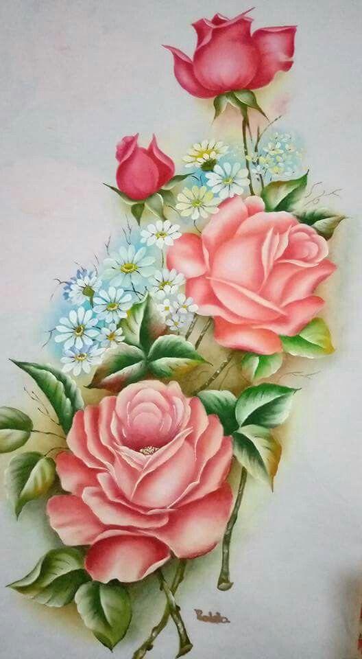 pintura em tecido rosas e flores passo a passo