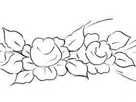 risco flores pintura em tecido