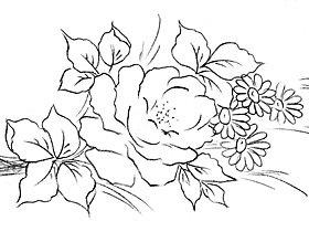 rosas para pintura em tecido