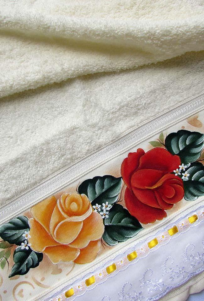 toalha pintura em tecido
