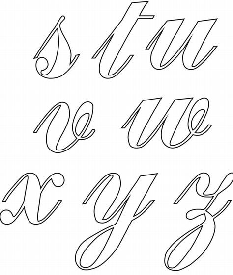 Letra Cursiva Para Imprimir Moldes Gratis Do Alfabeto