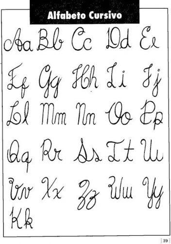 alfabeto cursivo maiuscula e minuscula imprimir