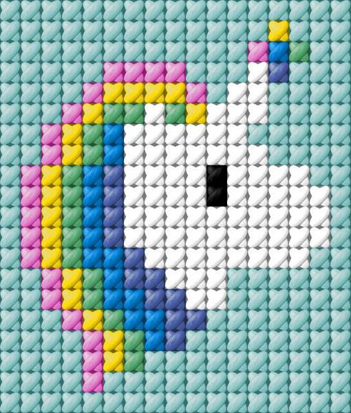 cabeça unicornio grafico ponto druz
