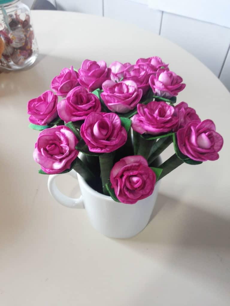 caneta decorada flor de ea
