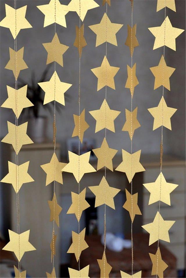 cortina de estrelas para o ano novo