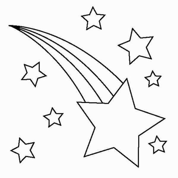 estrela cadente para recortar