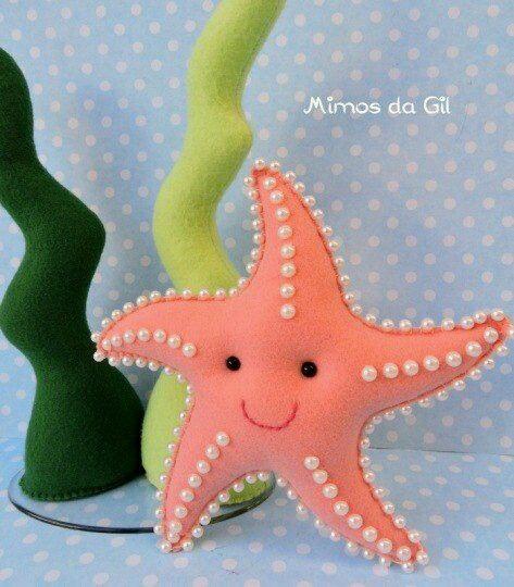 estrela do mar em feltro