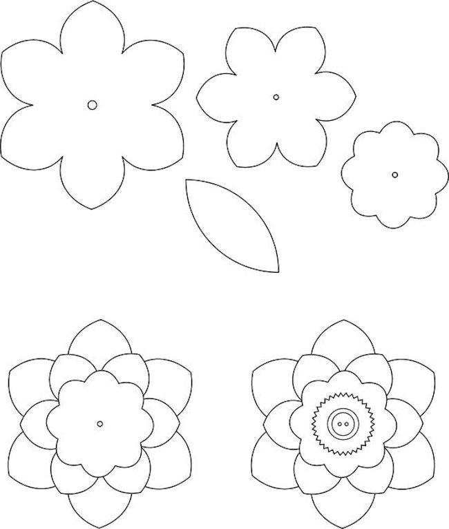 flor de eva molde gratuito