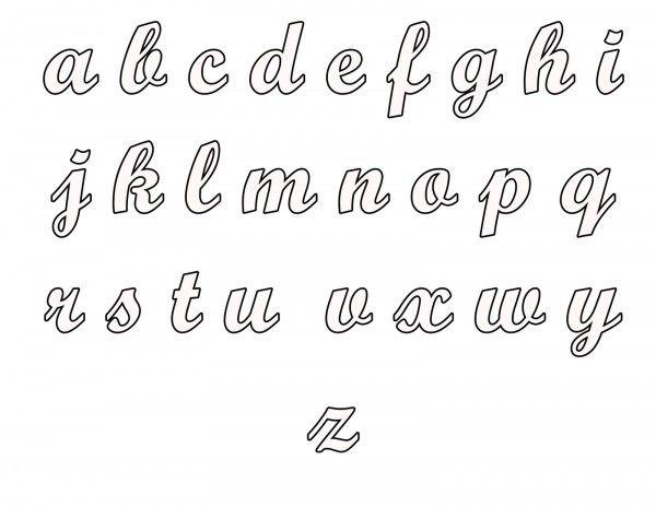 letra cursiva para imprimir molde