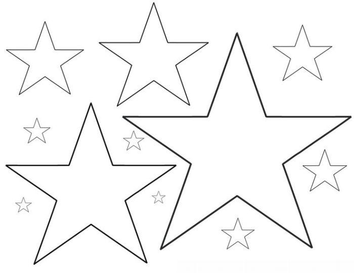 moldes estrela desenho 5 pontas