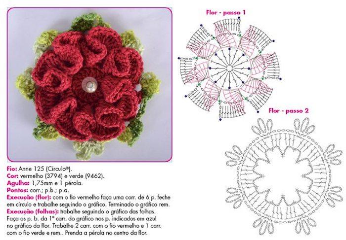 tutorial flor de croche