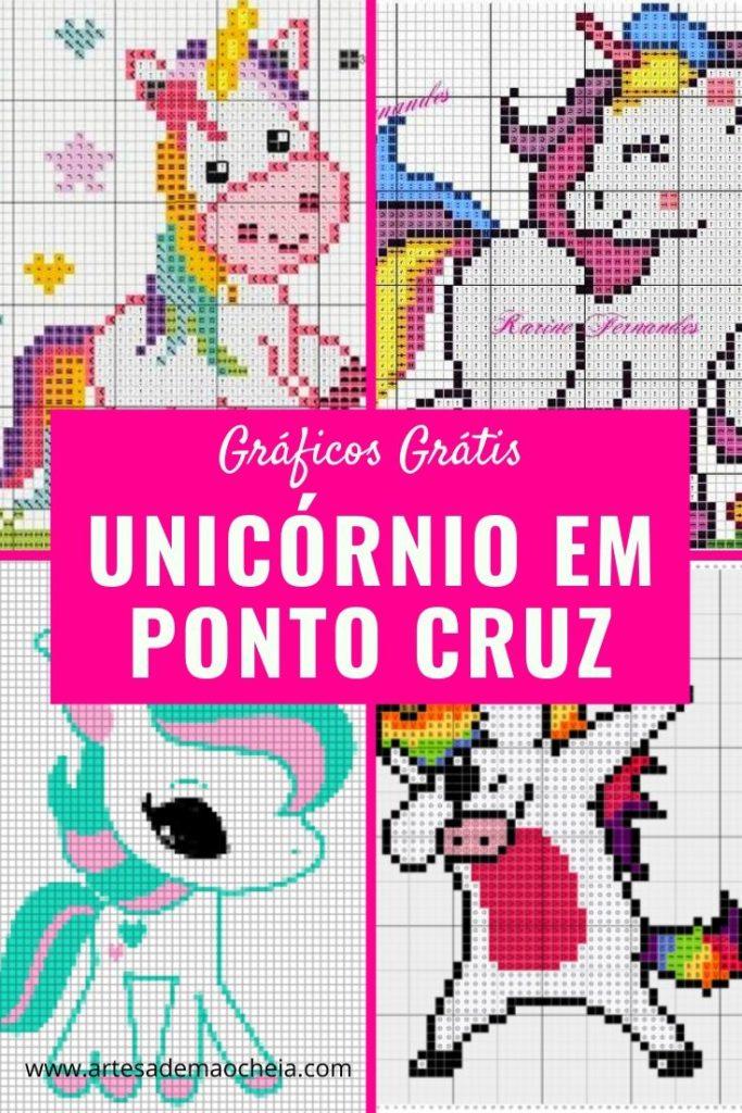 Unicornio Em Ponto Cruz 18 Graficos Gratuitos Para Imprimir