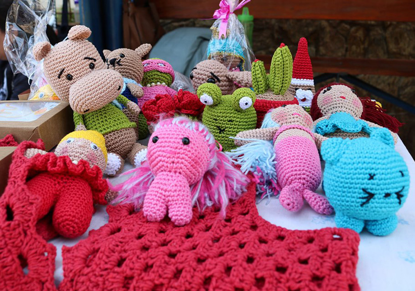 vender croche na feira