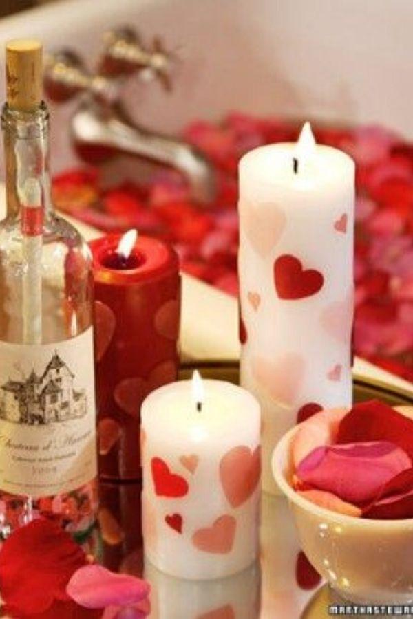 vela artesanal romantica
