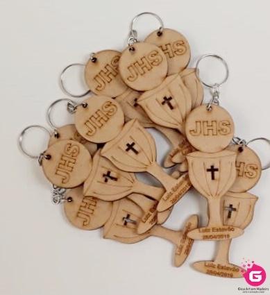 chaveiro lembrancinha calice primeira eucaristia