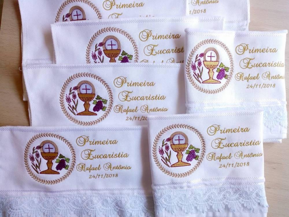 lembrancinha primeira eucaristia toalha