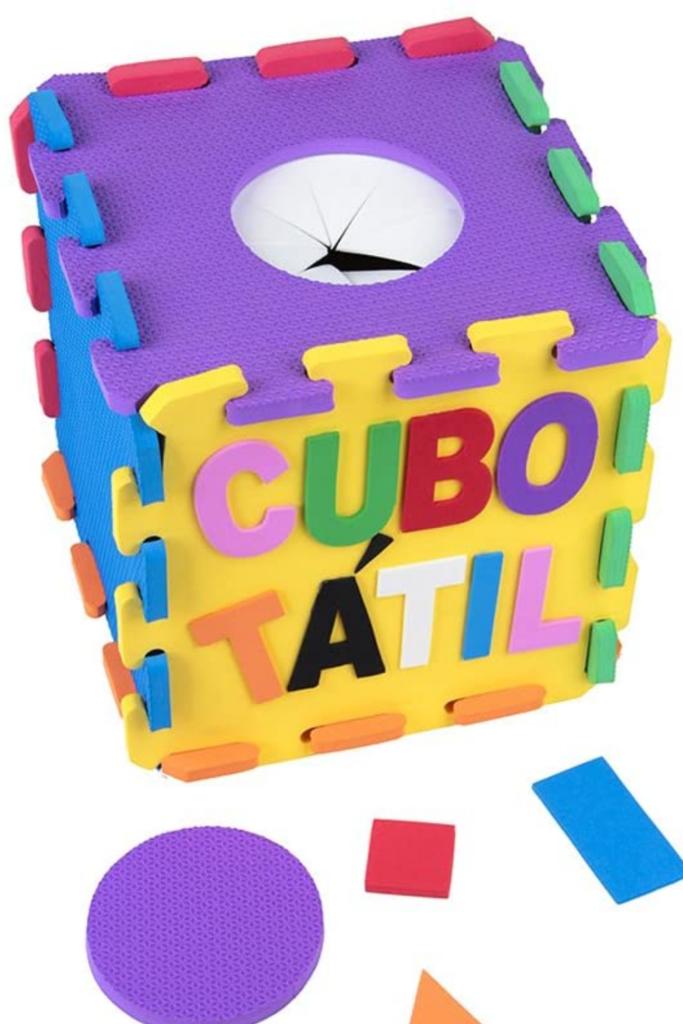 cubo tátil eva para educacao infantil