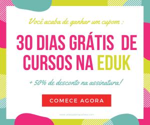 cupom de desconto eduk 30 dias gratis