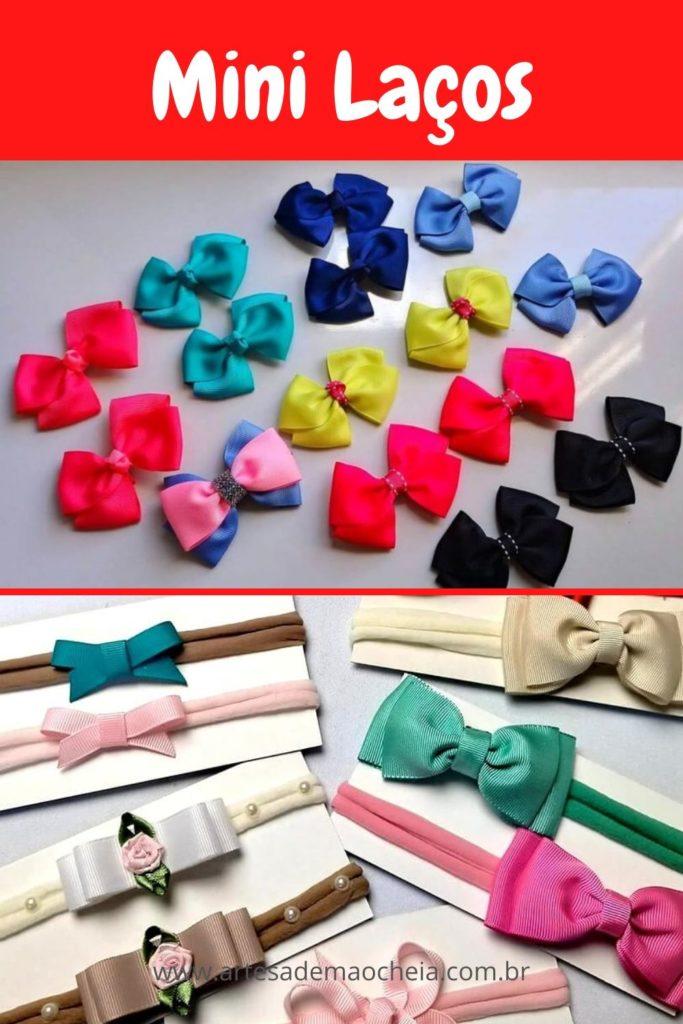 Mini laços na meia de seda