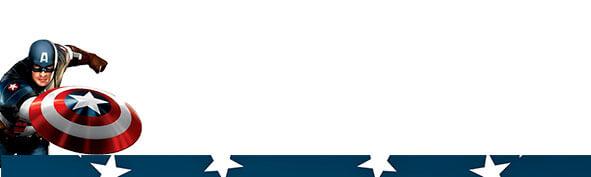 etiqueta para lapis capitao america