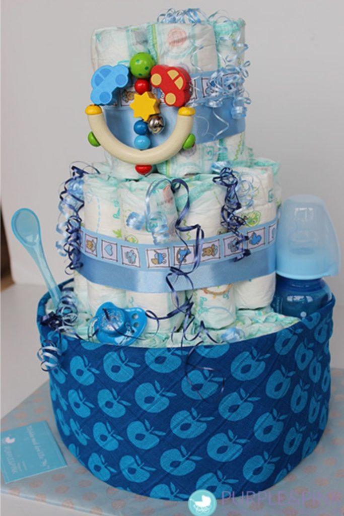 ideias de bolo para cha de bebe menino