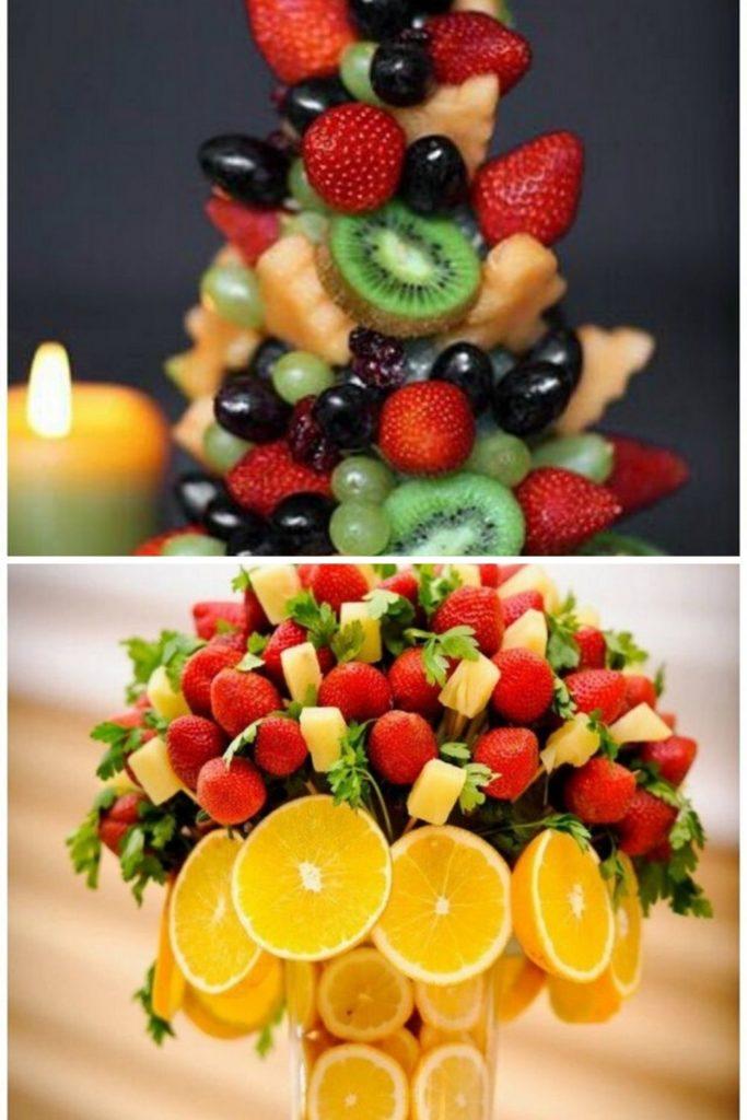 decoração com frutas para festas sofisticadas