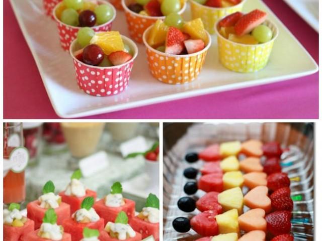 decoração com frutas para festa infantil