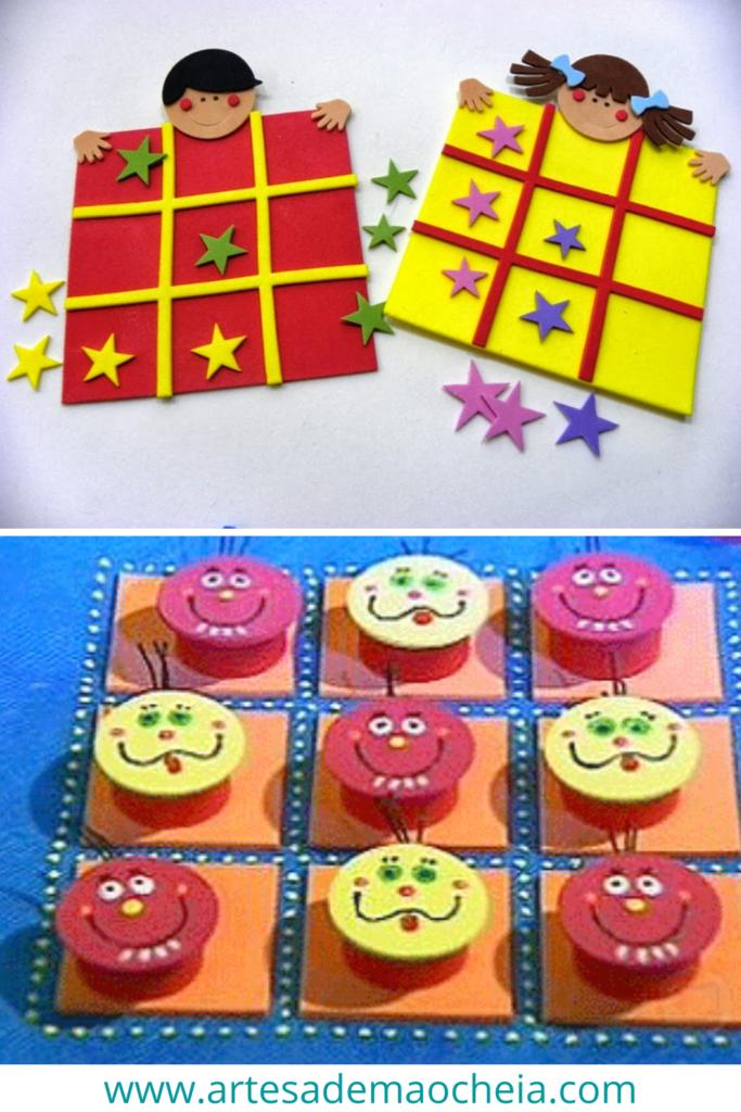 jogo da velha em EVA para crianças