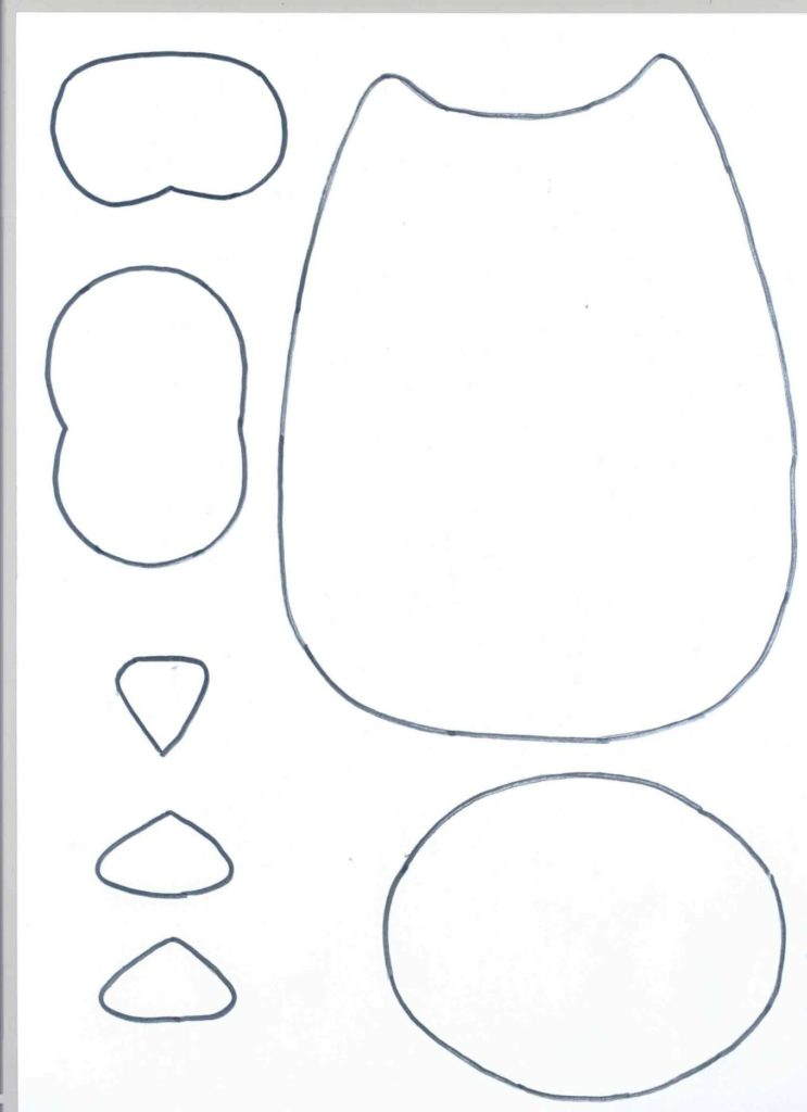 molde almofada de coruja basico