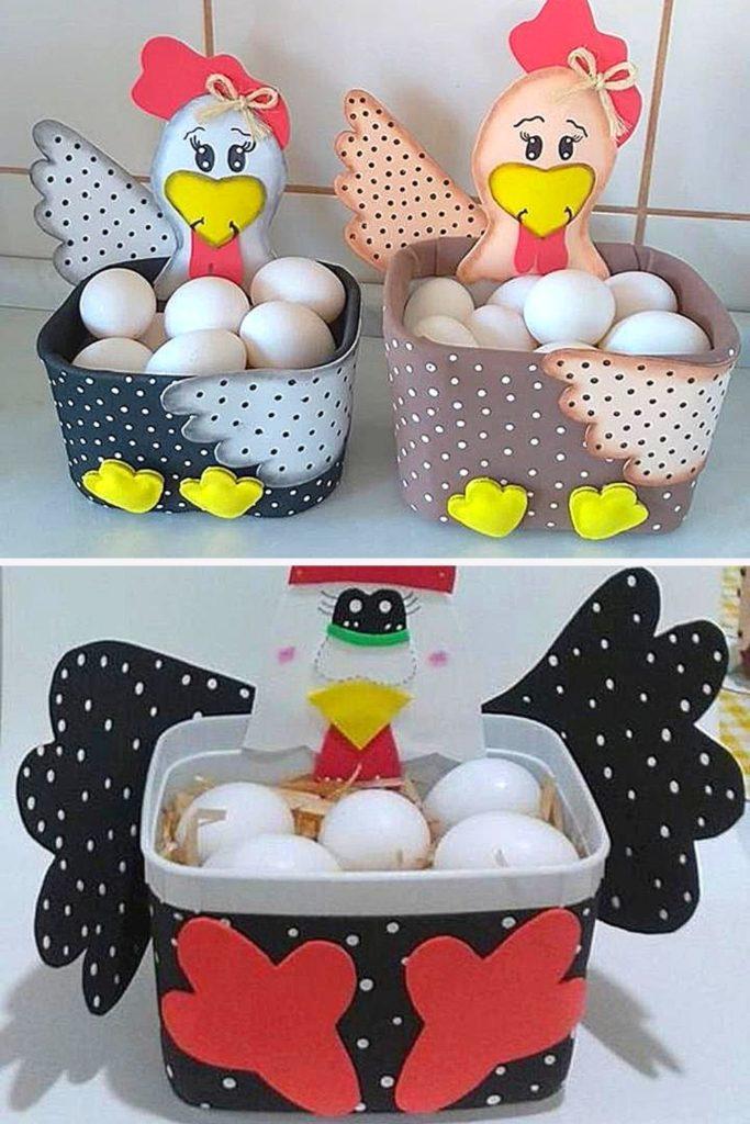 porta ovos galinha pote de sorvete