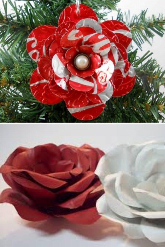 flores com latinha de aluminio