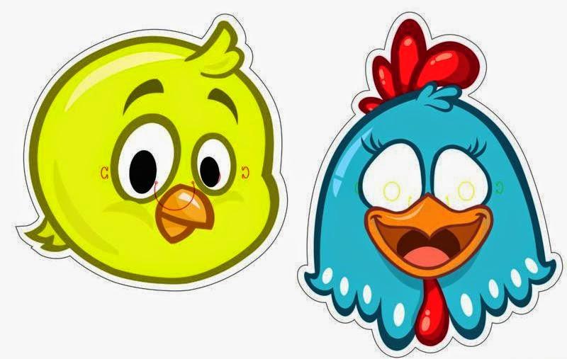 mascara de galinha para imprimir