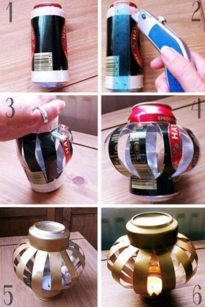 reciclagem de latinha de cerveja diy