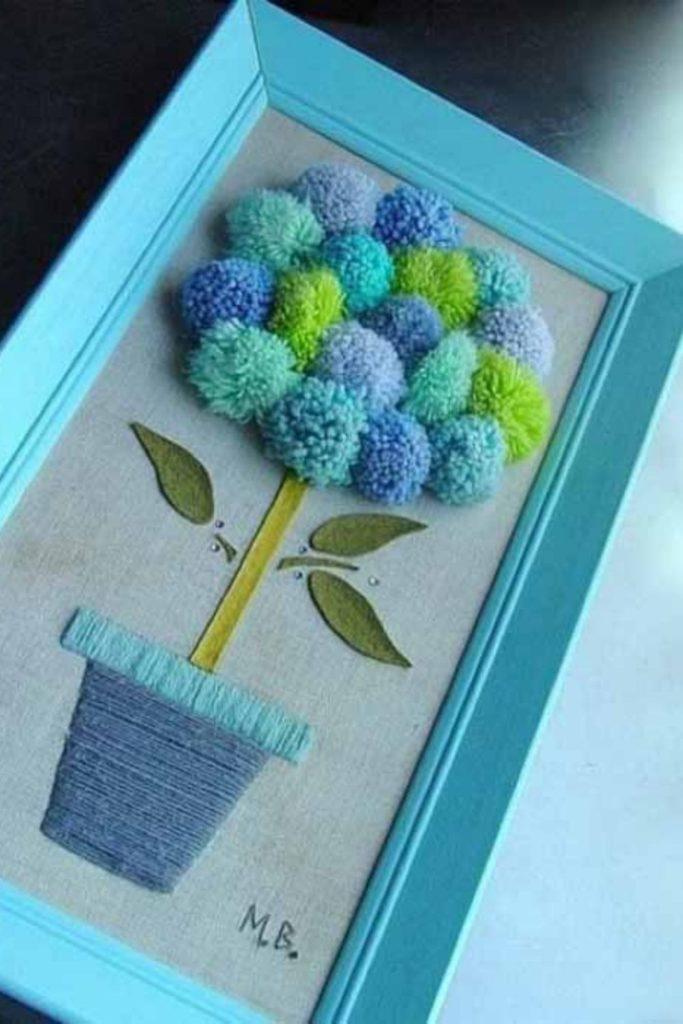 artesanato criativo com pompom