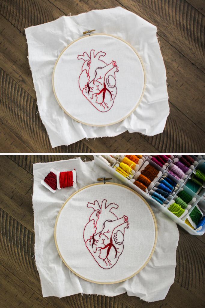 dicas de bordado para iniciantes tamanho do tecido