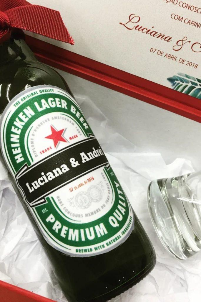 garrafa cerveja personalizada lembrancinha de casamento