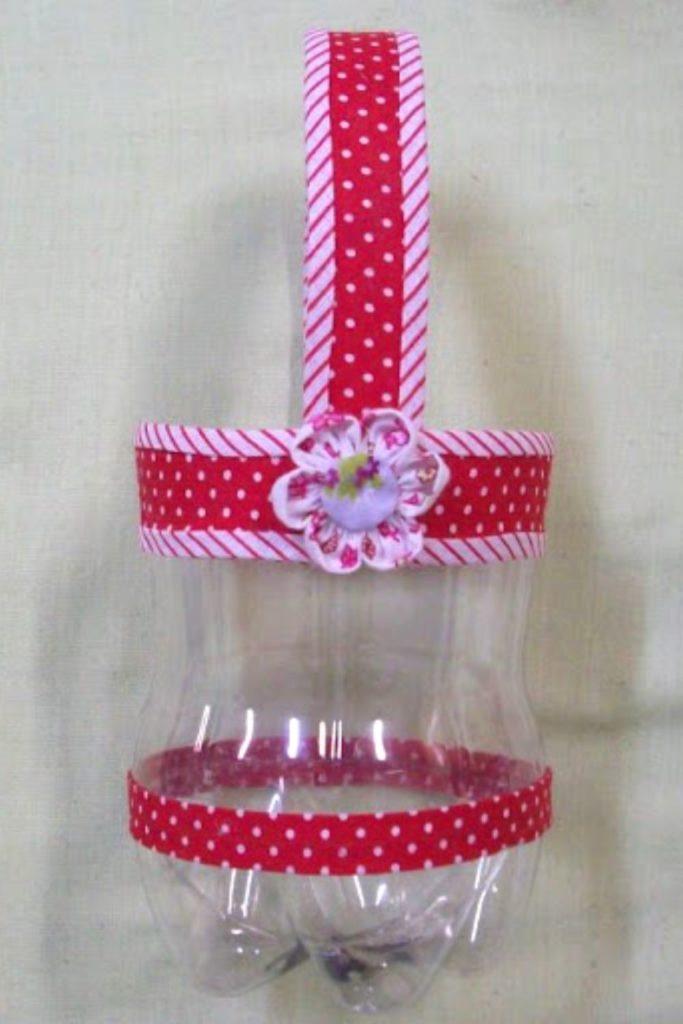 cestinha de eva de garrafa pet
