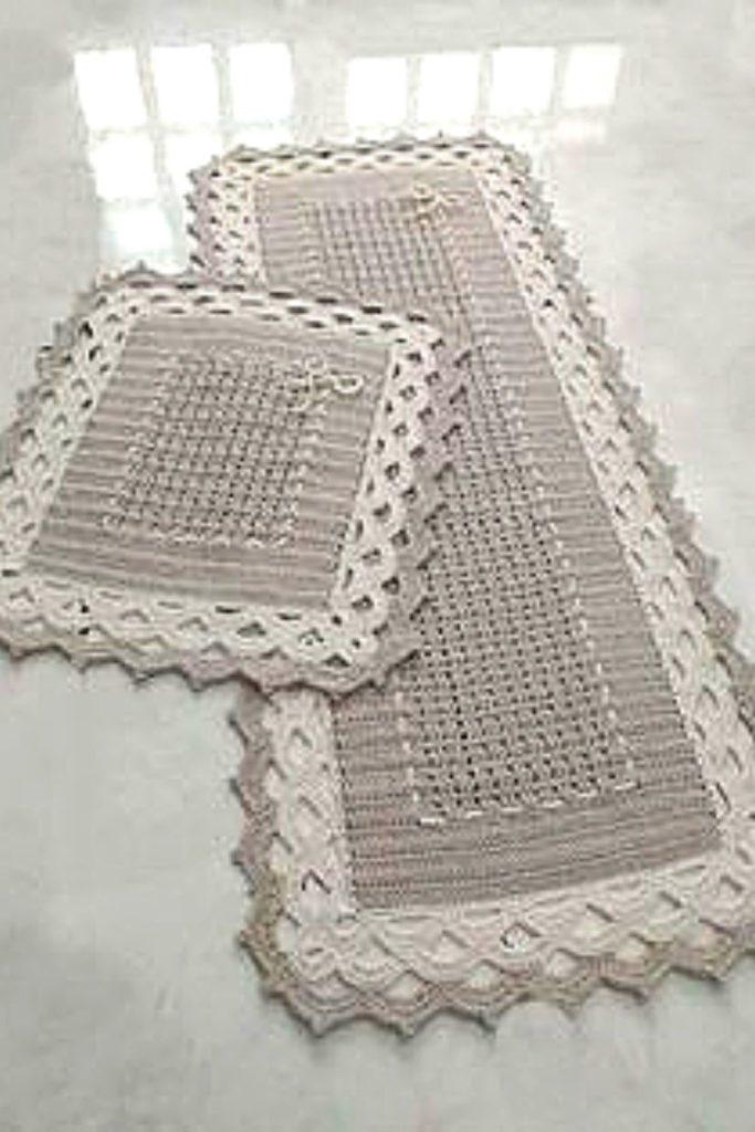 tapete cozinha retangular croche