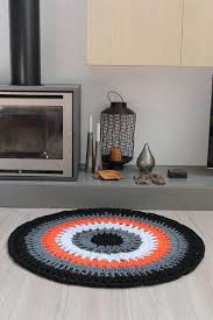 tapete de croche cozinha redondo