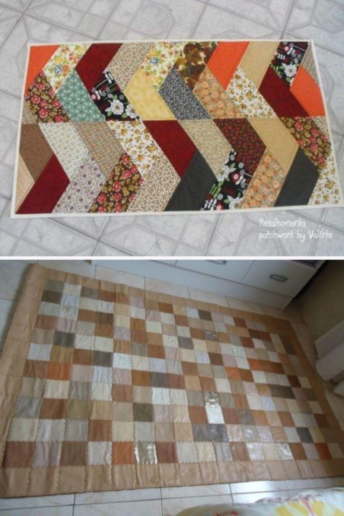 como fazer tapete com retalhos de tecido